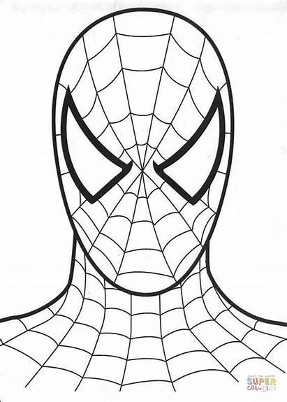 Tegninger Til Spiderman Head Coloring Farvelaegning Tegne