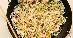 Shrimps Pasta aus dem Wok Rezept Küchengötter