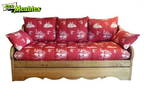 canapé style montagne eco meubles jean de sixt meuble style montagne