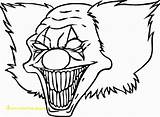 Pennywise Coloring Clown Pages Drawing Drawings Clowns Divyajanani sketch template