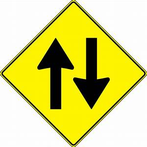 Paulprogrammer Yellow Road Sign Two Way Traffic clip art ...