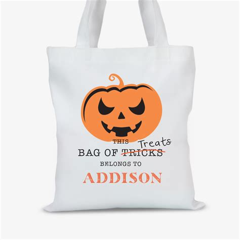 custom goods halloween tote bag shop treats