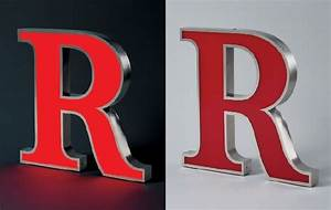 led face lit sign letters in stainless steel With lighted channel letters