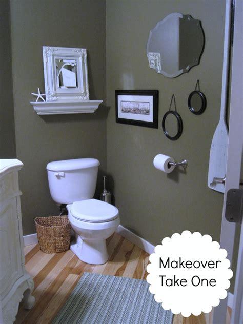 powder room    budget makeover reveal