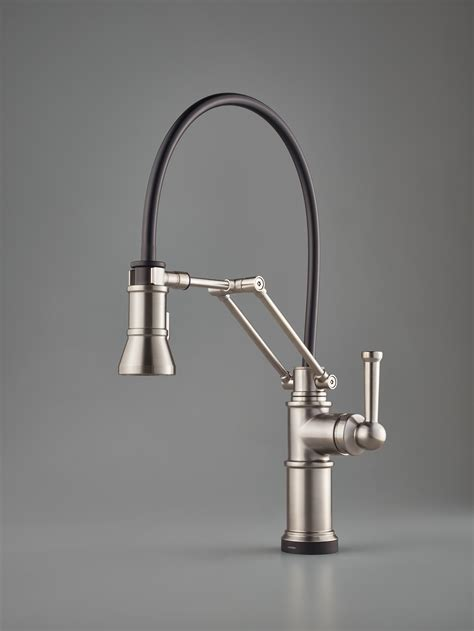 articulated kitchen faucet single handle articulating faucet for residential pro