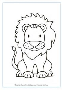 african animal colouring pages