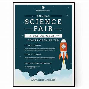 Science fair flyer template psd docx the flyer press for Science fair poster templates