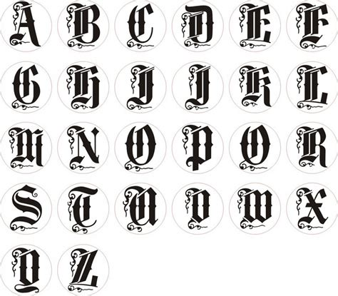 alphabet letters in different styles different style letters alphabet letters in different