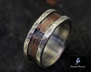 rustic copper mens ring mens engagement ring mens wedding With country wedding rings for men