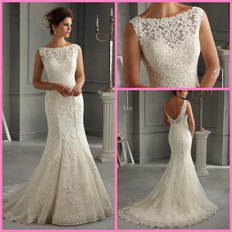 Boat Neck Wedding Dress Lace china lace bridal gown vestidos boat neck mermaid wedding
