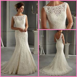 china lace bridal gown vestidos boat neck mermaid wedding With boat neck lace wedding dress