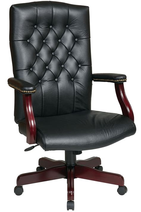 Texl  Office Star Traditional Black Leather