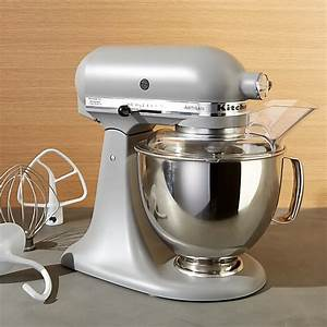 KitchenAid Artisan Matte Grey Stand Mixer Crate And Barrel