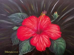 Tatyana Bondareva Artwork: Hibiscus   Original Painting ...