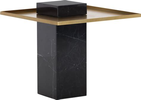 gold and marble end table verona black marble and gold end table from sunpan