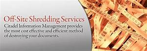 chicago off site shredding services citadel information With on site document shredding services