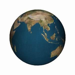 animated gif of rotating earth via povray | Honey Baked ...