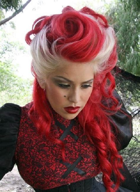 Classic Or Punk A Variety Of Red Hair Dye Red Hairstyle