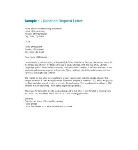 sample letter donation    honor