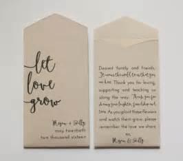 seed packet wedding favors let grow custom seed packet wedding favors by megmichelle