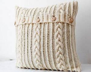 Abdeckung Kabel Decke : cable hand knitted pillow wool cover milk white decorative pillows case handmade home decor ~ Orissabook.com Haus und Dekorationen