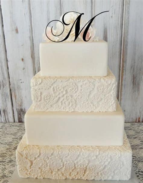 tall initial monogram wedding cake topper letter                p