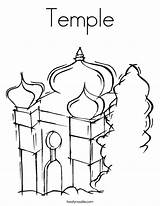 Temple Coloring Mosque Pages Judaism Synagogue Mitzvah Bar Twistynoodle Outline Built California Usa Noodle Login Favorites Tracing David 886px 95kb sketch template