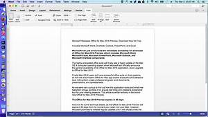 Microsoft Releases Office For Mac 2016 Preview  Download