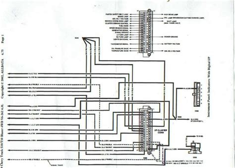94 S10 22 Wiring Schematic by 89 94 S 10 Digital Cluster Schematic Pinouts