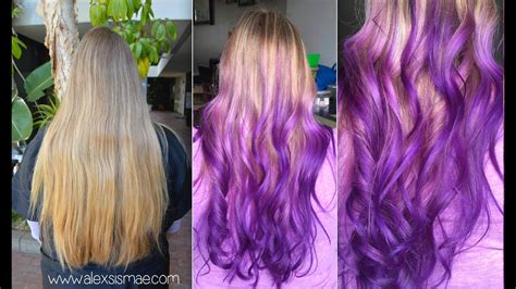 Dirty Blonde To Reverse Purple Ombre
