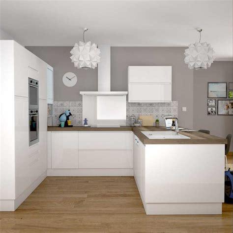 cuisine blanc bois beautiful deco cuisine blanc et bois photos ridgewayng