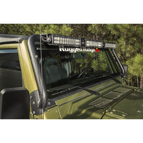 11232 08 1997 2006 wrangler windshield led light bar