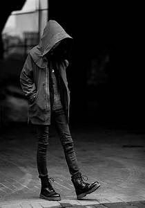 girl, sad, alone, shoes, black and white - image #661696 ...