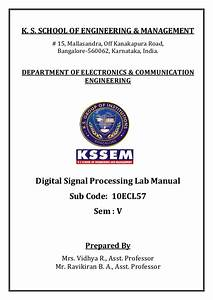 Dsp Lab Manual  10ecl57