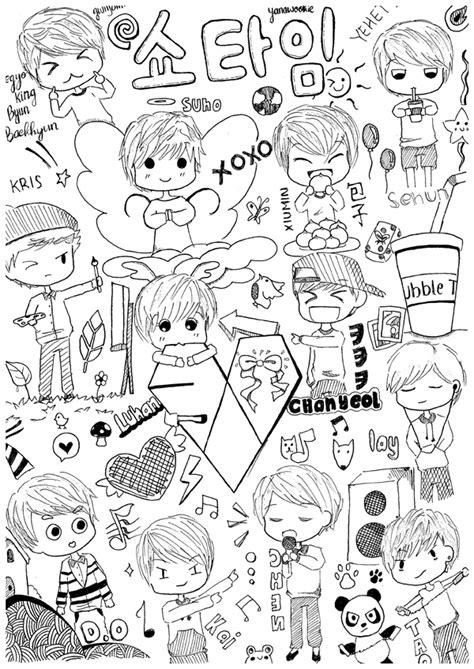 mkpop anime coloring pages coloring pages