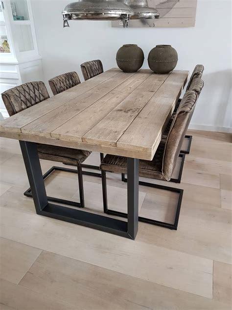 rustic dining chairs eettafel u frame naar wens samenstellen firma hout staal