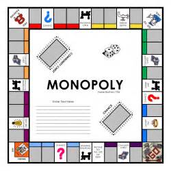 Blank Monopoly Game Board Template