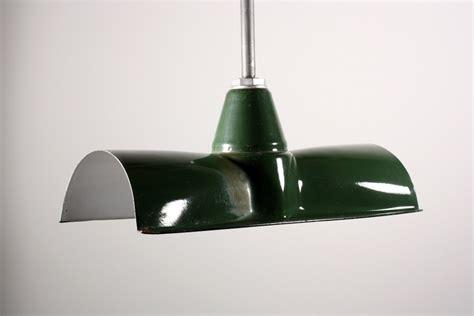 three matching antique green enamel porcelain industrial