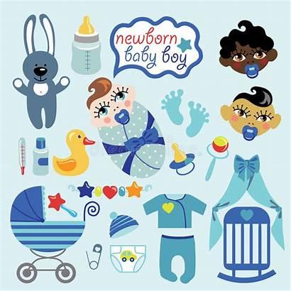 Cartoon Boy Newborn Asian Mulatto Vector European