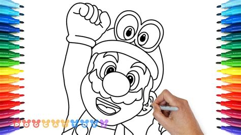 draw super mario odyssey  drawing coloring
