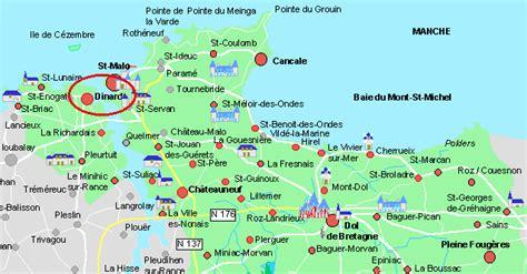 Carte Mont Michel Malo by Villes Et Villages Des Alentours