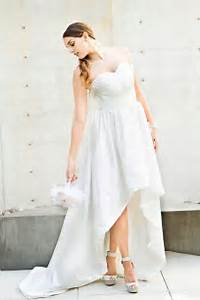 high low ivory strapless pleated taffeta asymmetrical With high low halter wedding dress