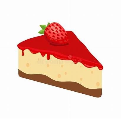 Cheesecake Strawberry Torta Formaggio Slice Erdbeere Fragola