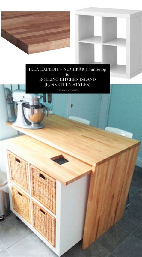 ikea rolling kitchen island best 25 ikea hack kitchen ideas on ikea hack
