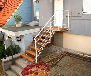 escalier exterieur metal concept escalier ferronnerie With maison avec escalier exterieur 2 ferronnerie rampe