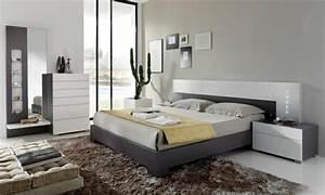 Chambre Gris Blanc : 99 id es d co chambre coucher en couleurs naturelles ~ Melissatoandfro.com Idées de Décoration