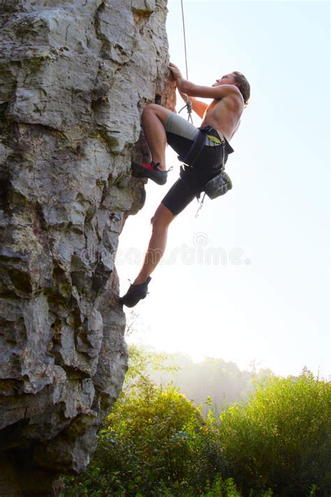 Climber Stock Image Person Alone Adrenaline