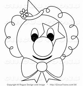 Cute Clown Black And White Clipart - Clipart Suggest