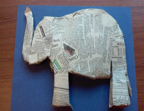paper mache elephant  super easy diy ideas guide patterns