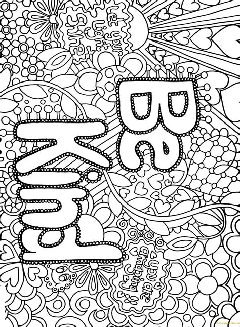 difficult advanced letter  kind coloring page